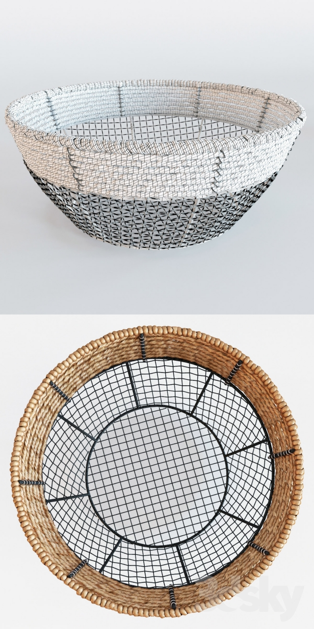 3d Models Other Decorative Objects Iron Wire Round Wide