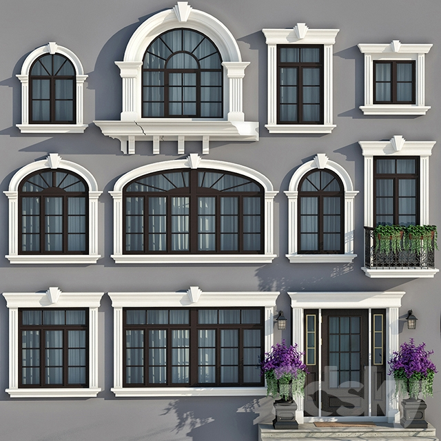 3d models windows windows and doors in the style of for Door models for house