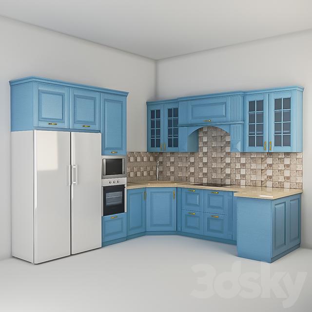 3d models: Kitchen - Kitchen set on Modern:8-Rtxafges8= Model Kitchen  id=46619