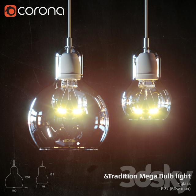 3d models ceiling light tradition mega bulb light. Black Bedroom Furniture Sets. Home Design Ideas