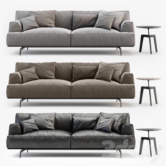 3d models sofa poliform tribeca sofa. Black Bedroom Furniture Sets. Home Design Ideas