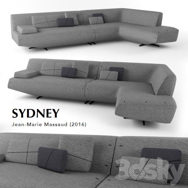 Poliform Sydney 3d models sofa poliform sydney sofa 2016