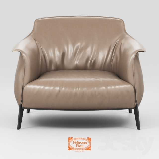 "3d models: Arm chair - Poltrona Frau ""Archibald"""