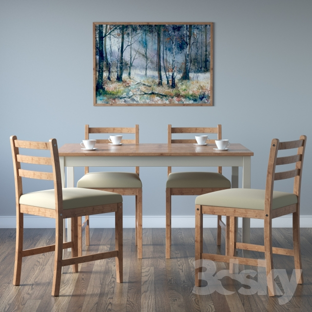 Attractive IKEA LERHAMN Chair And Table