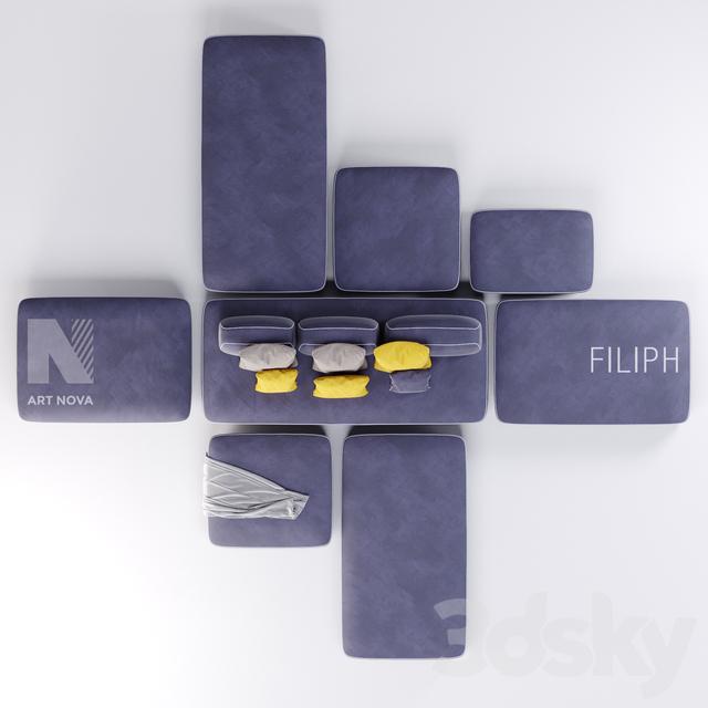 3d Models Sofa Art Nova Filiph