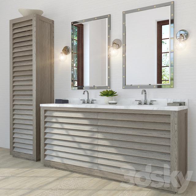 Models Bathroom Furniture Restoration Hardware Grand Shutter Vanity Sink 2x