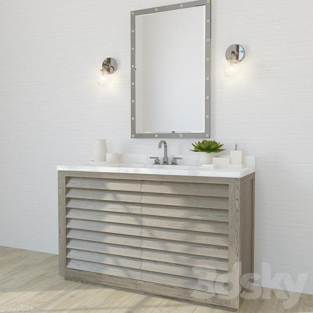Models Bathroom Furniture Restoration Hardware Grand Shutter Vanity Sink 1x