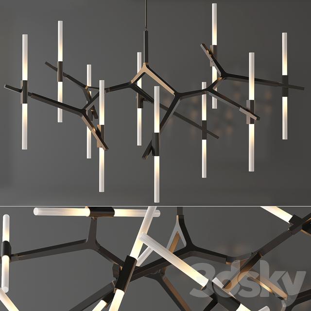 3d models ceiling light agnes chandelier 20 lights by roll hill