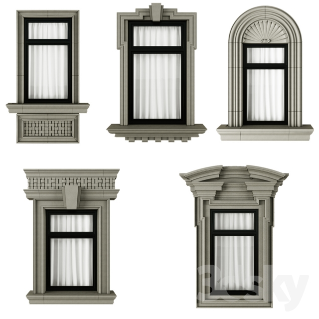 3d models: Windows - Classic frame window