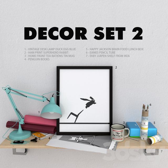 3d models decorative set decorative set sreative. Black Bedroom Furniture Sets. Home Design Ideas