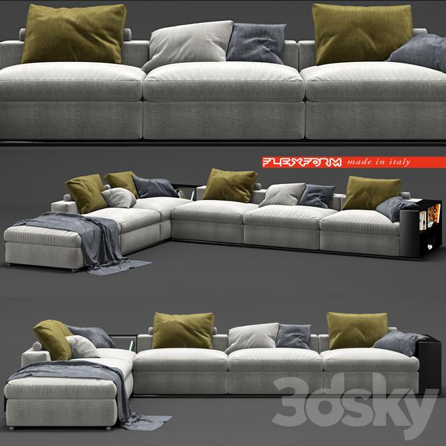 3d Models Sofa Flexform Groundpiece Sofa
