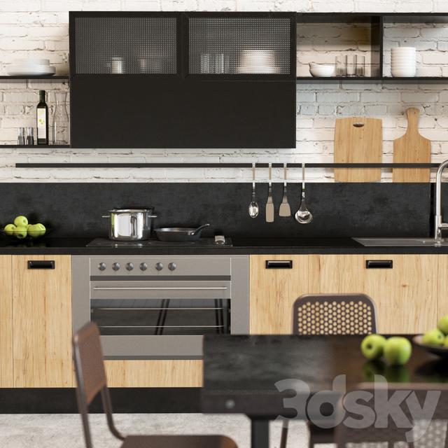 3d models: Kitchen - Scavolini Diesel Social Kitchen 1