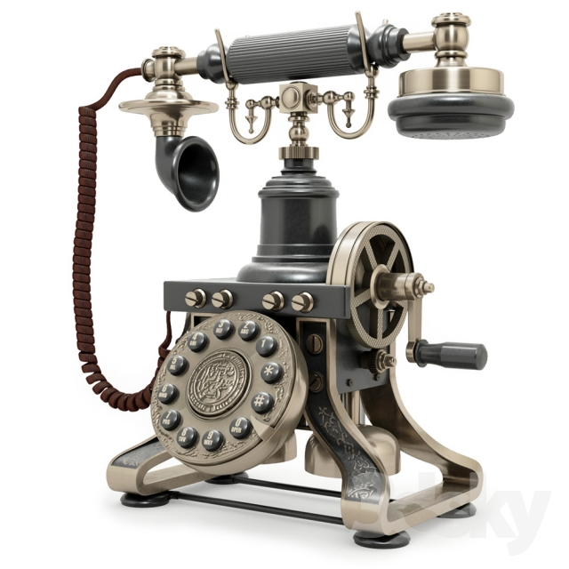 1892 Eiffel Tower Reproduction Telephone BLACK