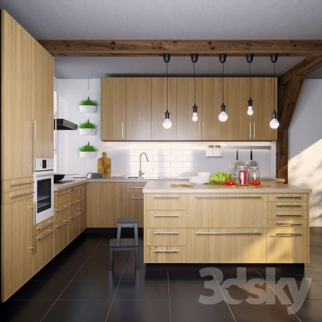 3d models kitchen ikea kitchen ekestad oak ekestad oak. Black Bedroom Furniture Sets. Home Design Ideas