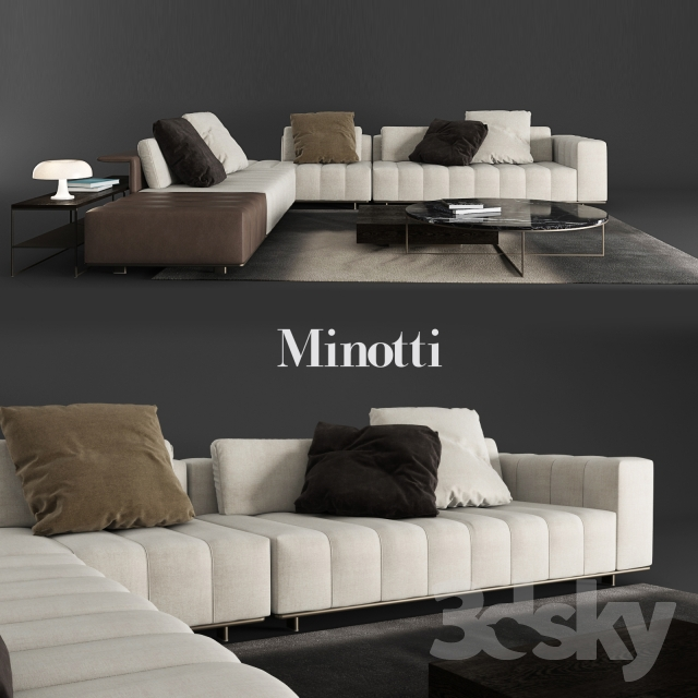 3d Models Sofa Minotti Freeman Tailor