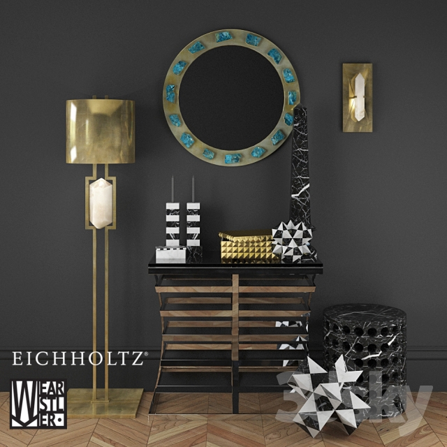 3d Models Decorative Set Eichholtz Amp Kelly Wearstler