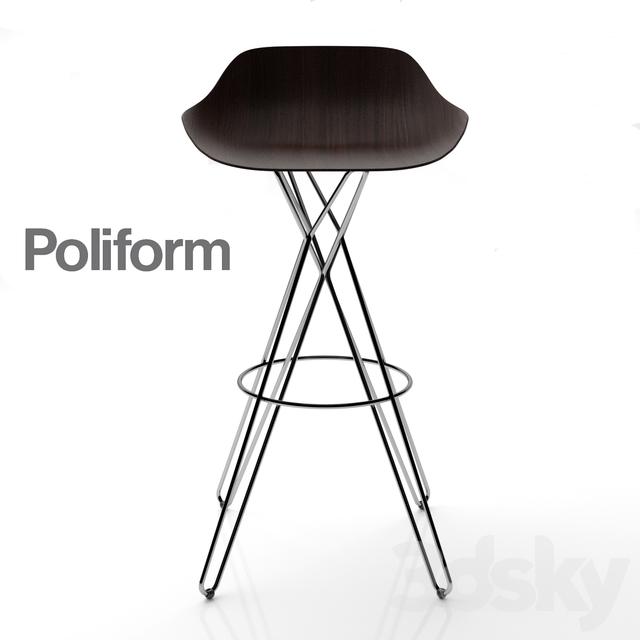 3d Models Chair Bar Stool Poliform Harmony S26