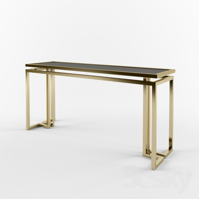 3d models table console table palmer - Console depliable en table ...