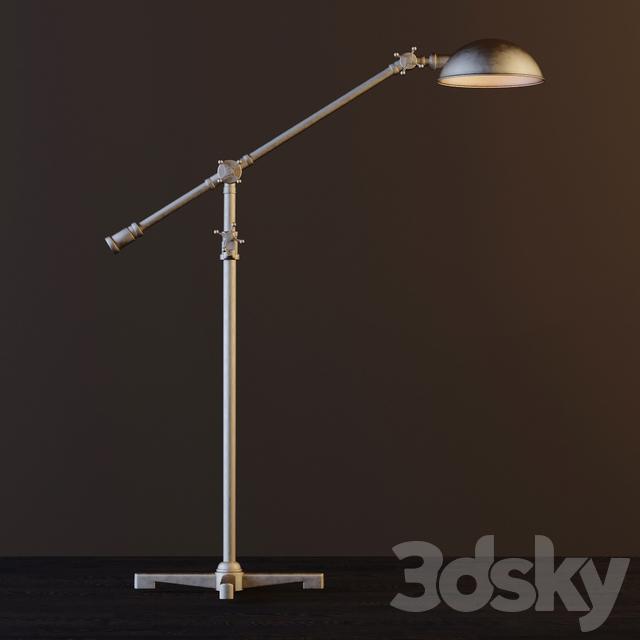 3d Models Floor Lamp Rowan Pharmacy Task Floor Lamp