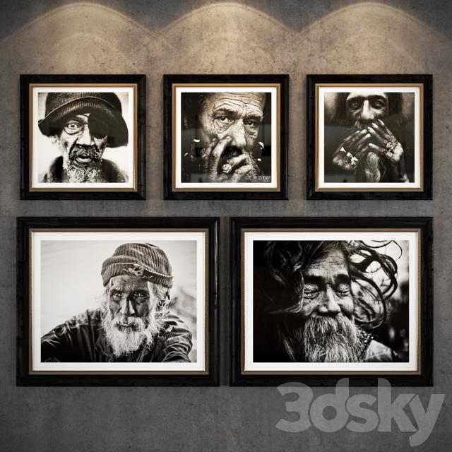 Image of: Gallery Art Old People Saatchi Gallery 3d Models Frame Art Old People