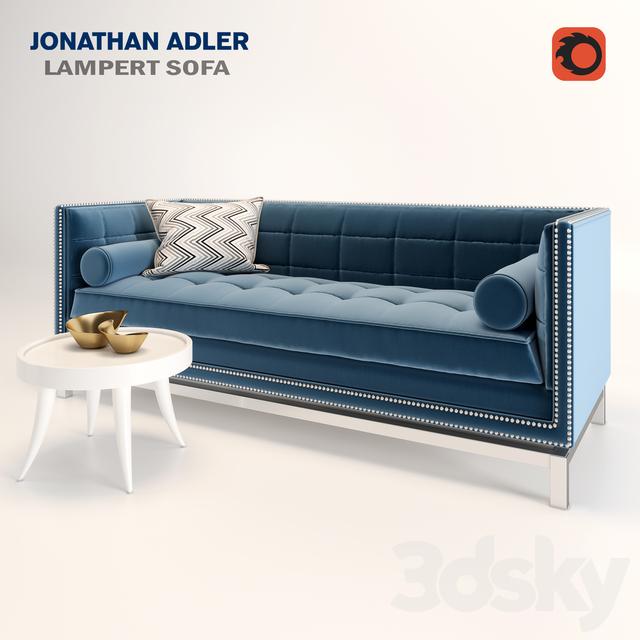 3d Models Sofa Lampert By Jonathan Adler