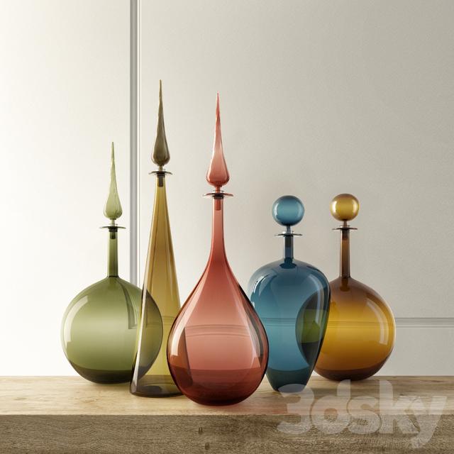 JOE CARIATI Glass Bottles