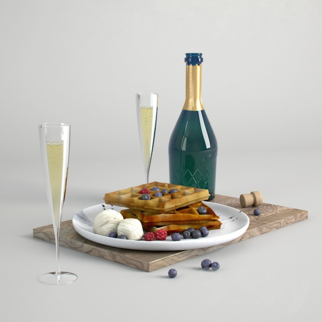 champagne and waffles / champagne and waffles