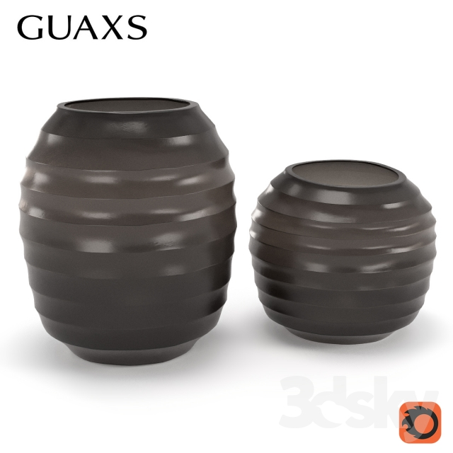 Guaxs vase belly smoke gray