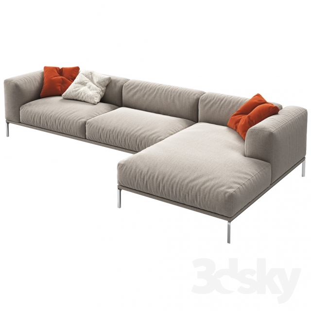 3d models sofa cassina moov. Black Bedroom Furniture Sets. Home Design Ideas