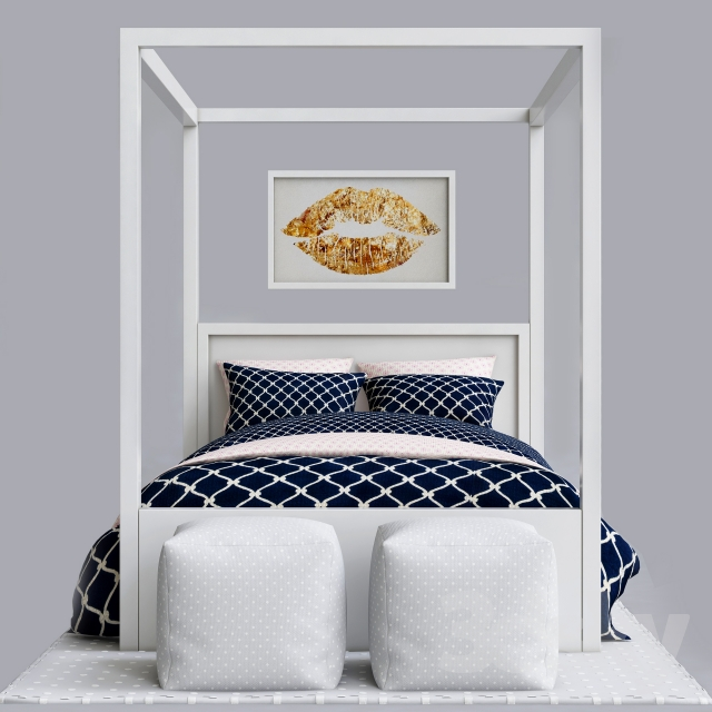 Blue childrens bedroom set