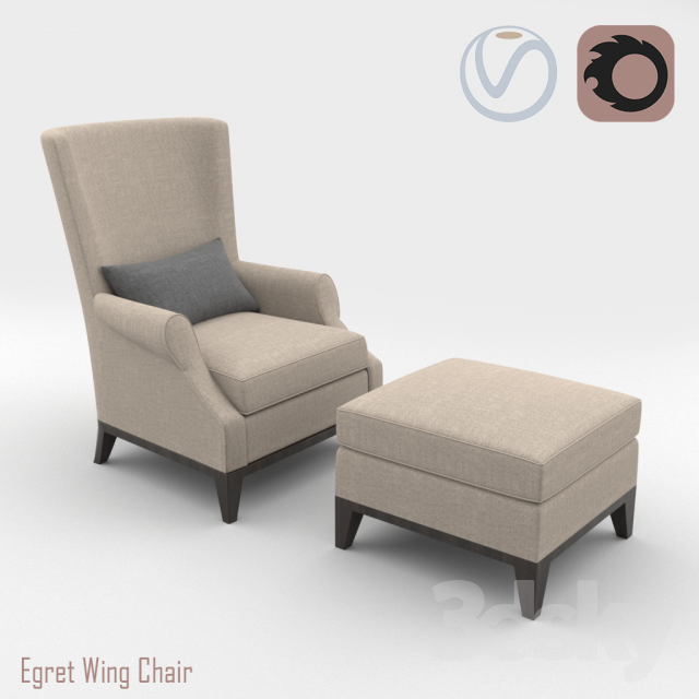 Armchair EGRET WING CHAIR DONGHIA