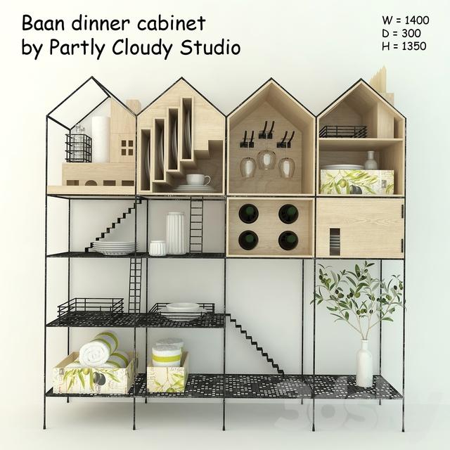 3d Models: Other Kitchen Accessories   Baan Dinner Cabinet ...