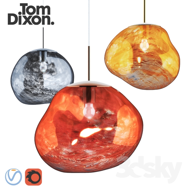 3d Models Ceiling Light Melt Pendant Lamp Tom Dixon