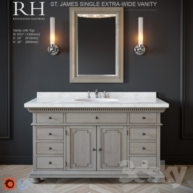 Restoration Hardware St James Single Vanity Vanity Decorating Ideas