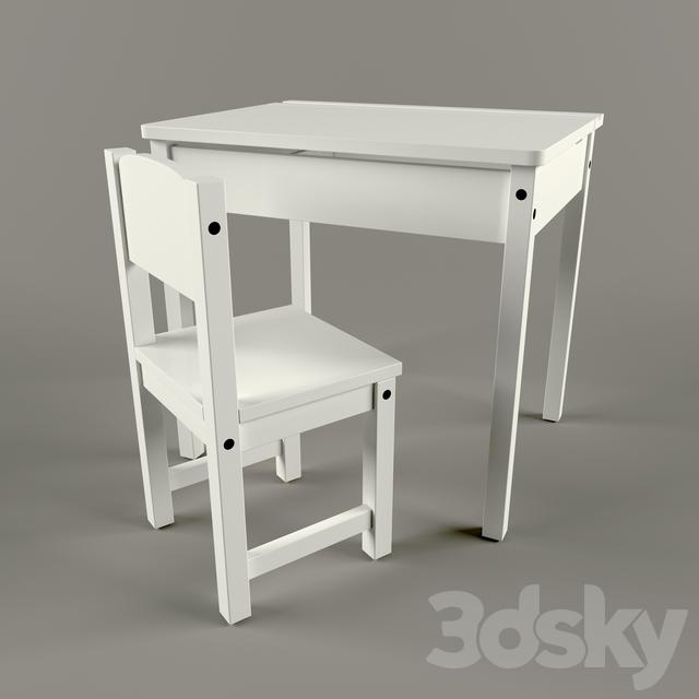 3d Models Table Chair IKEA SUNDVIK