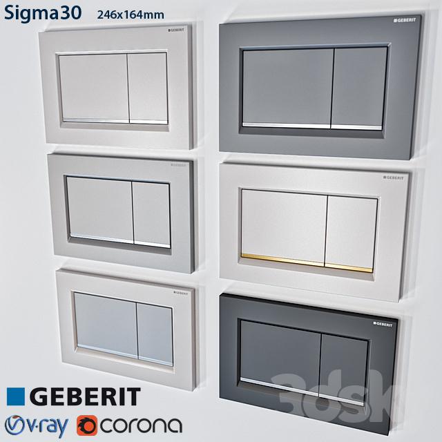 3d models bathroom accessories geberit sigma 30. Black Bedroom Furniture Sets. Home Design Ideas