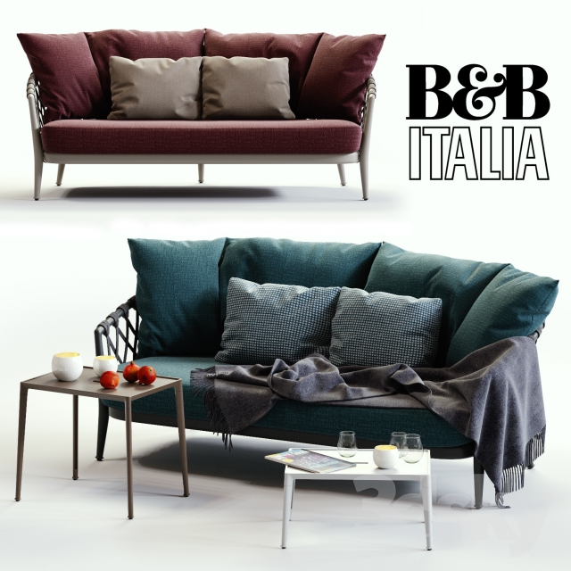 B & B Italia ERICA Blue & Red Sofa