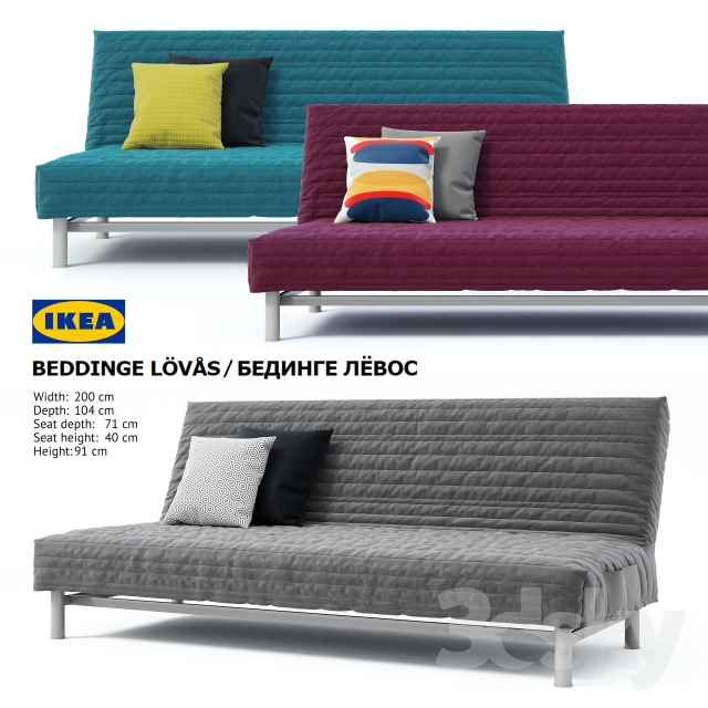 3d Models Sofa Ikea Beddinge Lovas Sofa Bed Bedinge
