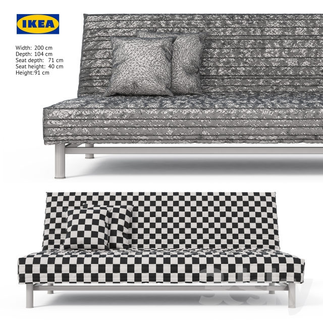Beddinge L 246 V 229 S Sofa Bed Ikea Three Seat Folding Sofa Bed