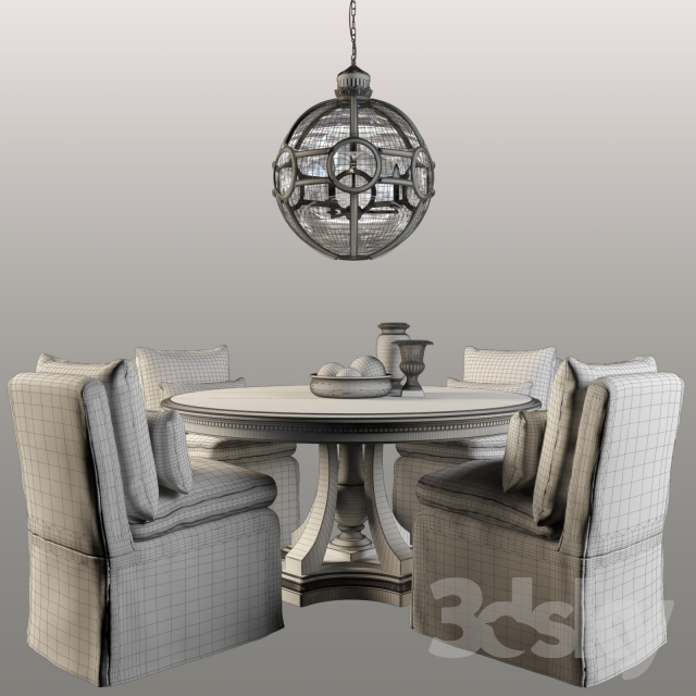 3d models Table Chair RH St James Round Dining Table : 85659458908d61b512a from 3dsky.org size 640 x 640 jpeg 182kB