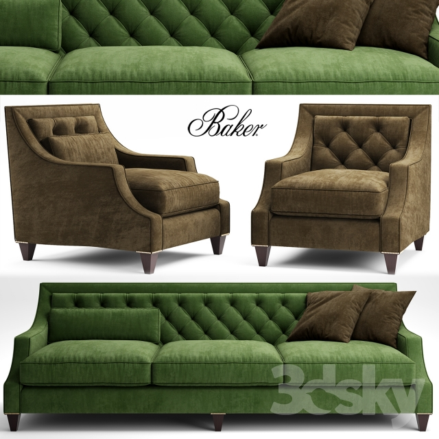Sofa And Chair Baker TUFTED