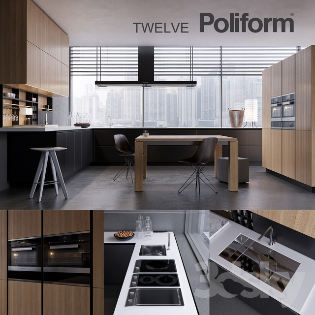 3d models kitchen kitchen poliform varenna twelve 2 for Poliform kuchen