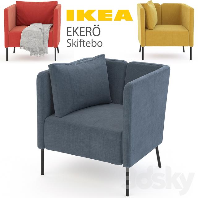 3d models arm chair ikea ekero set. Black Bedroom Furniture Sets. Home Design Ideas