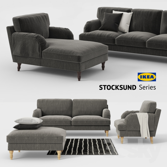 3d models Sofa Ikea STOCKSUND sofa chair ottoman chaise sofa