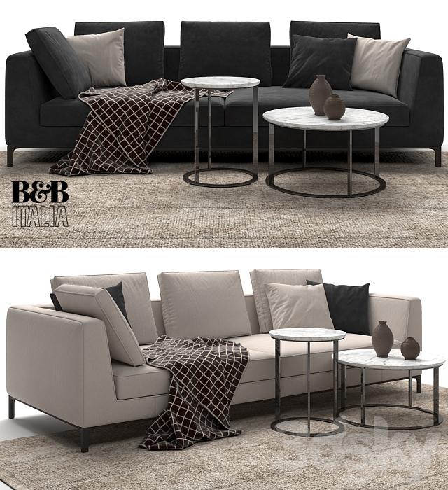 3d models sofa maxalto b b italia lucrezia to size sofa for B b maxalto