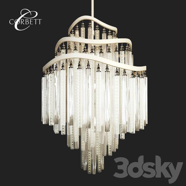 3d models: Ceiling light - Corbett Lighting Chimera Chandelier