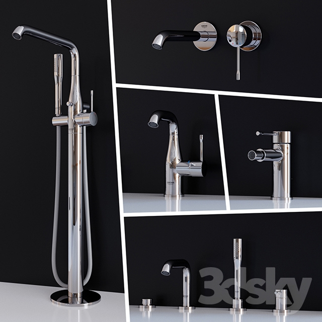 3d models faucet set mixer grohe essence new part 2. Black Bedroom Furniture Sets. Home Design Ideas