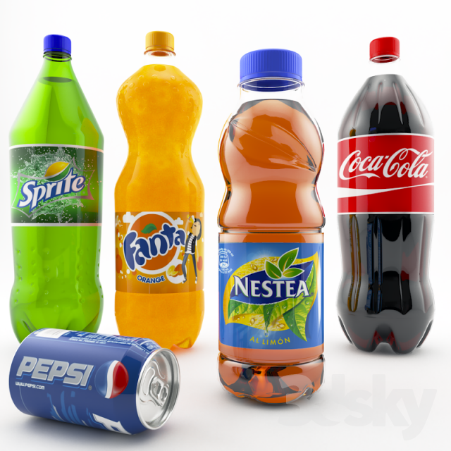 3d models: Food and drinks - Soft drinks
