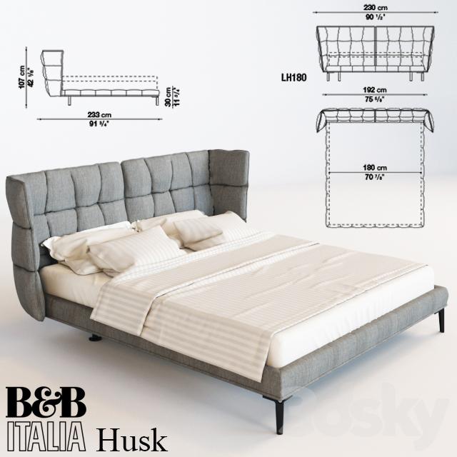 3d models bed bed b b italia husk for B b italia online store