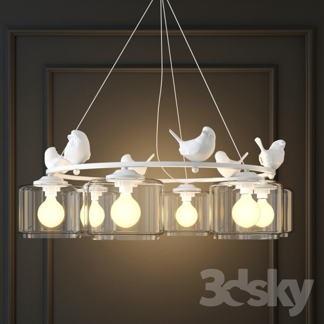 3d models ceiling light hanging lamp provence bird pendant hanging lamp provence bird pendant chandelier pedant aloadofball Gallery